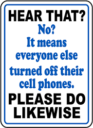 Funny No Cell Phones Sign