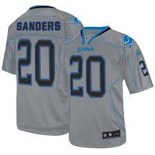 20 Lions Number Detroit Jersey