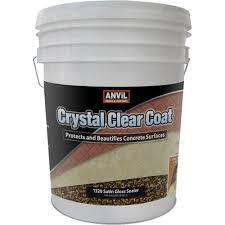 Anvil 5 Gal Crystal Clear Coat Satin Gloss Waterproofer Interior Exterior Clear Coat Over Acrylic Paint
