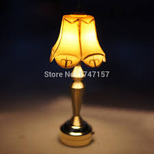 1 12 scale miniature dollhouse table lamp led light doll house lighting miniatures furniture accessories bjd doll toy