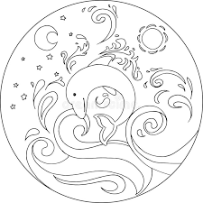Dolphin Mandala Stock Illustrations 87 Dolphin Mandala Stock