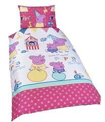 Amazon.com: Peppa Pig 'Funfair' Reversible Single Bed Duvet Cover ... & Peppa Pig 'Funfair' Reversible Single Bed Duvet Cover Set Adamdwight.com