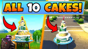 Fortnite Birthday Cake Locationschallenges Guide Dance In Front