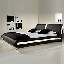 white faux leather bed. Contemporary Leather Frankfurt U0026 Co Giovanni Modern Faux Leather Bed In Black White  4FT6Double To Q
