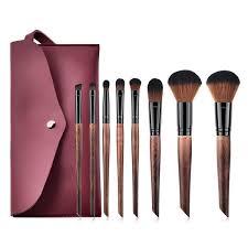 8pcs set makeup brushes set with case foundation blush lip eyeshadow cosmetic tools set