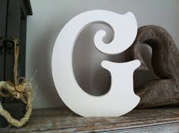 large wooden letters g
