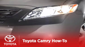 Toyota Camry 2007 Light Bulb 2007 2009 Camry How To High Low Beams Toyota