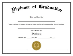 High School Diploma Template With Seals Kee Certificate