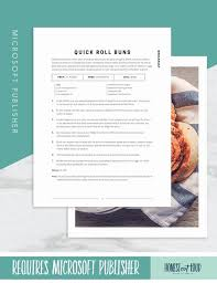 Publisher Cookbook Template Printable Recipe Template 8 5x11 Microsoft Publisher Instant Download Instant Printable Recipe Book Editable Cookbook Us Paper