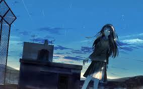 Anime Alone Girl Wallpaper - Wallpaper Hook