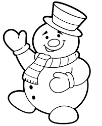 Free printable snowman coloring page for kids. Smiled Snowman With A Hat Coloring Page Sheet