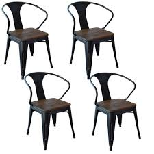 black wood dining chair. AmeriHome Black Metal And Wood Dining Chair (Set Of 4)-801071 - The Home Depot L