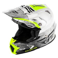 Fly Racing Toxin Embargo Youth Helmet White Black Hi Vis