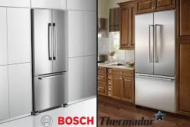 french door refrigerator in kitchen. Bosch B22CT80SNS And Thermador French-Door Refrigerators French Door Refrigerator In Kitchen I