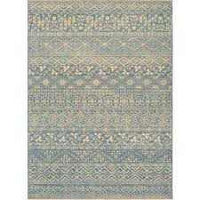 elegance ophelia azure tan 7 ft x 10 ft area rug