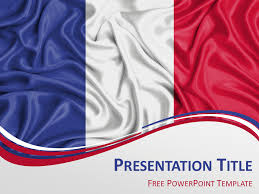 Powerpoint Theme Templates Free France Flag Powerpoint Template Presentationgo Com