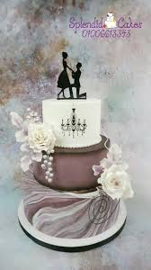 Marble Engagement Cake By Reham Flower Cakes Engagement Cakes