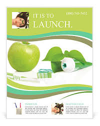 Apple Flyer Templates All For Healthy Teeth Apple Toothpaste And Brush Flyer Template