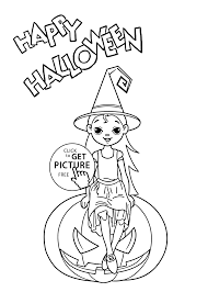 Small Picture Little witch coloring page for kids printable free Halloween