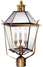 colonial electric copper lantern post light heads for sale