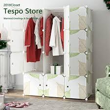Tespo Portable Clothes Closet Wardrobe DIY Modular Storage