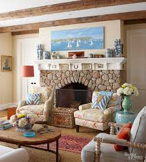 living room furniture ideas with fireplace. Cobblestone Fireplace Frame Living Room Furniture Ideas With L