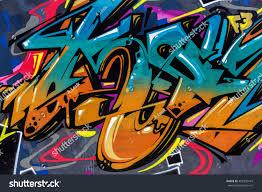 Beautiful Street Art Graffiti Abstract Color Stockfoto Nu Bewerken