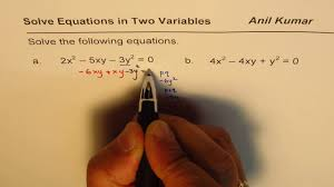 how to solve quadratic equation in two variables
