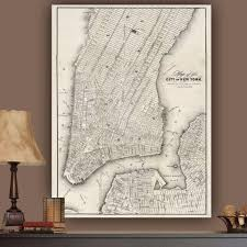 >vintage new york city map wall art holycowcanvas vintage new york city map wall art canvas wall art holycowcanvas