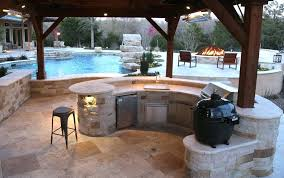 outdoor kitchen and entertaining space in north backyard small kitchens