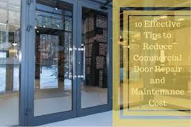 reduce commercial door repair