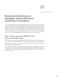 appendix d pavement maintenance database virtual machine  page 103