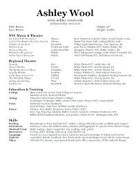 Performance Resume Inspiration Professional Dance Resume Skills To Put On A 60 Ifest