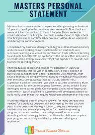 Personal Statement Grad School Samples Civil Engineering Grad School Personal Statement Sample
