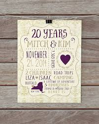cool 20th wedding anniversary gift ideas for husband for the big day new and unique wedding