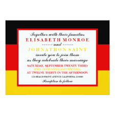 german flag cards invitations, greeting & photo cards zazzle Wedding Greetings In German german flag wedding card wedding greetings german