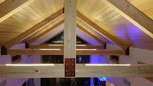 vaulted ceiling lighting using ultra warm white strip light