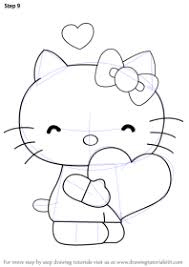 Free, printable hello kitty coloring pages, party invitations, printables and paper crafts for hello kitty fans the world over! Easy Drawing Of Hello Kitty Step By Step Novocom Top