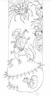 James and the Giant Peach Coloring Page or Book Cover | Great ...