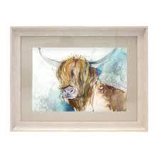 voyage maison rory highland cow framed
