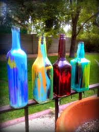 Decorating Empty Wine Bottles diy alcohol bottles DIY Painted Liquor Wine Bottles Squirt 44
