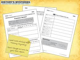 In Order To Solve A History Mystery You Will Need To Have A Forensic ...