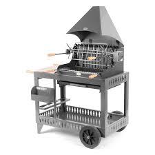 Barbecue Au Charbon De Bois Lemarquier Mendy Gris Anthracite