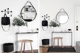 Black-White-Entryway-Small-Space