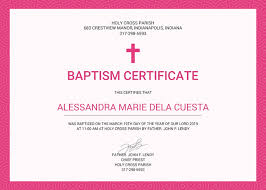 Sample Baptism Certificate Template Delectable 48 Sample Baptism Certificate Templates Free Sample Example