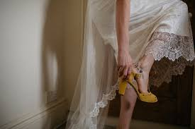 Yellow Shoes and Kate Beaumont Lace for a Colourful Wedding in.