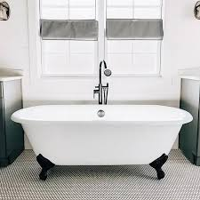 home cambridge cast iron double ended clawfoot tub no faucet drillings
