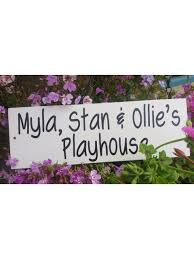 personalised tree house sign stone