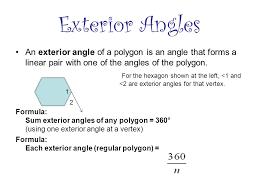 exterior angle formula for polygons. 13 exterior angles an angle of formula for polygons