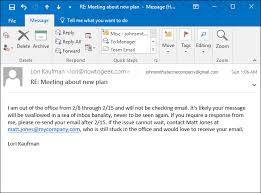 Automatic Respond How To Set Up An Out Of Office Reply In Outlook For Windows